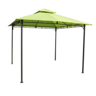 10Ft x 10Ft Weather Resistant Gazebo with Lime Green Canopy LG2161456