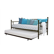 Twin size Metal Daybed with Pull-out Trundle Bed in Bronze Finish DMDB51984152