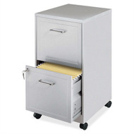 Gray Silver Metal 2-Drawer File Cabinet with Casters LGMF51985171