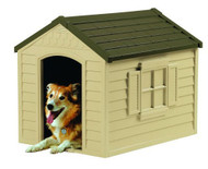 Medium Size Outdoor Resin Construction Snap Together Dog House SDG88PET