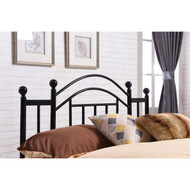 Twin size Black Metal Platform Bed Frame with Arched Headboard TPBKMCI189251