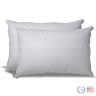 Set of 2 Hypoallergenic Down Alternative Pillows with 100% Cotton Ticking SDAP491512