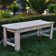 5-Ft Backless Garden Bench in Natural Yellow Cedar Wood SCB165981