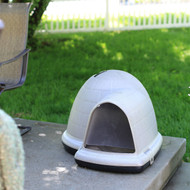Large 43.8-inch Igloo Shape Weather Resistant Dog House in Tan LFTDH14987515