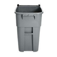 50 Gallon Gray Commercial Heavy-Duty Rollout Trash Can Waste/Utility Container E24GKG88311