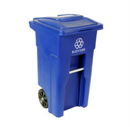 32 Gallon Blue Commercial Heavy-Duty Rollout Recycler Trash Can Container RECYC88312