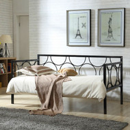 Twin size Contemporary Black Metal Daybed with Metal Support Slats BMDBH519812
