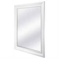 Rectangular 32 x 26 inch Bathroom Wall Mirror with 1-inch Bevel and White Frame MWRWM658421