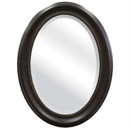 Round Oval Bathroom Wall Mirror with Beveled Edge and Bronze Frame ROBM149871876