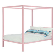 Full size Modern Pink Metal Canopy Bed DPCBF59842512