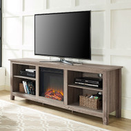 Driftwood 70-inch TV Stand Space Heater Electric Fireplace DWEFPSCS478513