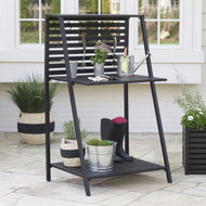 Modern Potting Bench Garden Table Outdoor Bakers Rack Shelving Unit BMLDPB974631