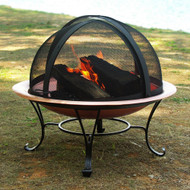 Classic 30-inch Copper Fire Pit with Dome Screen CFPWA57891
