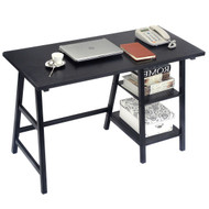 Black Home Office Laptop Computer Desk Writing Table TDOFB87515891