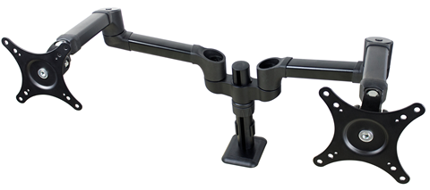 """Full Motion Dual Monitor Arm, Pole Mount, up to 27"""" DS-227PS"""