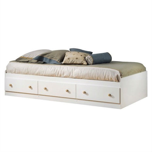 twin size white wood platform daybed with storage drawers. Black Bedroom Furniture Sets. Home Design Ideas