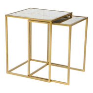 Calais Nesting Tables Brass -405005-1