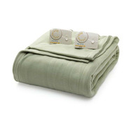 Full size Electric Heated Blanket in Sage Green w/Digital Control, Machine Wash CFG581985478105