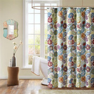 Contemporary Colorful Floral Paisley Shower Curtain TPSC5198411