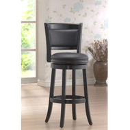 Black 29-inch Swivel Seat Barstool with Faux Leather Cushion Seat BASB9751