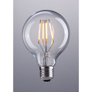 E26 Bulb, G80, 4W, LED, 110X80mm, Clear -P50029