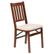 Set of 2 - Folding Dining Chair with Upholstered Seat S2FWDCF118