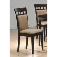 Set of 2- Contemporary Dining Chairs in Cappuccino Finish SO2CDC104