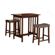 3-Piece Counter Table and Stools Dining Set in Cherry Finish HS3PCTS11636