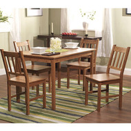 5-Piece Eco-Friendly Solid Bamboo Dining Set B5PDS23399