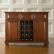 Classic Cherry Wood Finish Dining Room Sideboard Buffet with Wine Storage CSB281436