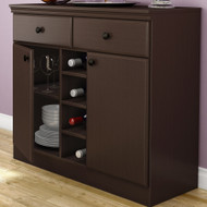 Console Table Sideboard with Storage Drawers in Chocolate MSCT175941