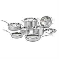 12-Piece Stainless Steel Professional Oven Safe Cookware Set CST214951