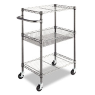 3-Tier Metal Kitchen Cart / Utility Cart with Adjustable Shelves and Casters ATRC54981