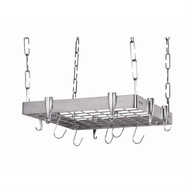 Square Stainless Steel Ceiling Hanging Pot Rack SHPR598153