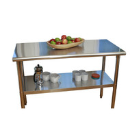 Stainless Steel Top Food Safe Prep Table Utility Work Bench w/Adjustable Shelf STW1539153-4