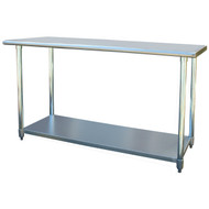 Contemporary 2Ft x 5Ft Stainless Steel Top Workbench Utility Table SWBL181951-3