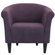 Contemporary Classic Upholstered Club Chair Accent Arm Chair in Eggplant Purple SCFH5198447