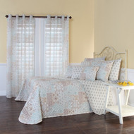 Full size Reversible Quilted Bedspread with Paisley Pattern STRQB29918