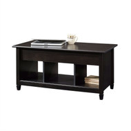 Black Wood Finish Lift-Top Coffee Table with Bottom Storage Space SEB65184156