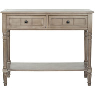 Console Accent Table Traditional Style Sofa Table in Distressed Cream DCT121993