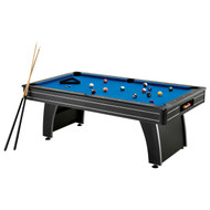 7 Ft Blue Top Pool Table with 2 Cues and Billiard Balls FCT7FT642