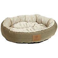 22-inch Round Pet Bed in Sage Green Small Dog or Cat - Machine Washable ACRS2658