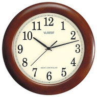 12.5-inch Atomic Analog Wall Clock with Wood Finish Frame LCTWAAC4097