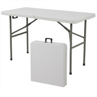 Multipurpose 4-Foot Center Folding Table with Carry Handle BCFD506316