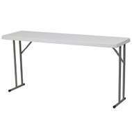 White Top Commercial Grade 60-inch Folding Table - Holds up to 330 lbs F60G5153