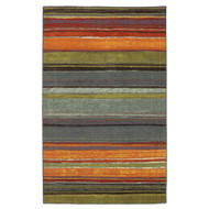 5' x 8' Rainbow Stripes Area Rug with Orange Blue Green Red Purple SRAR902992