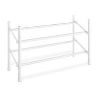 2-Tier Stackable Shoe Rack Organizer Storage Shelves in White ESRW12984151