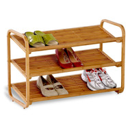 3-Tier Bamboo Shoe Rack Shelf - Holds 9-12 Pairs of Shoes HCDB3TS3487