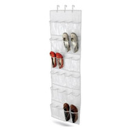 Clear White Shoe Organizer Shoe Rack - Hangs Over Door HCDOC1399