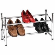 Expandable Two-Tier Shore Rack in Chrome HEXTTSRC1699